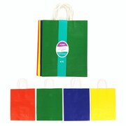 Flomo- Large Gift Bags, PRIMARY COLOR ASSORTMENT, 60/Pack, (KFV738-6L)