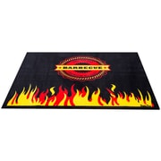 """Doortex Rectangular Fire Retardant BBQ Mat, Flame 39""""x48""""(FR4BQ3948FL)"""