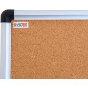"Viztex Cork Bulletin Board with an Aluminum Trim (24""x18"")"