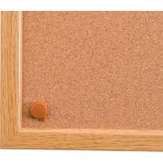 "Viztex Cork Bulletin Board with an Oak Effect Frame (48""x36"")"