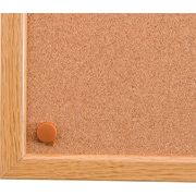 "Viztex Cork Bulletin Board with an Oak Effect Frame (24""x18"")"