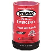 Sterno 30278 100 Hour Emergency Liquid Wax Candles, 4 Pack by