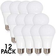 Maxxima A19 LED Light Bulb 800 Lumens 10 Watts Warm White, 12 Pack (MLB-191050W-12)