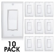Maxxima 3-Way Decorative Wall Switch White, Pack of 10 (MEW-S1003W-10)