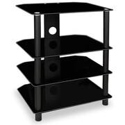 Mount-It! TV MedIa Stand, Glass Shelves, AudIo VIdeo Components (MI-867)