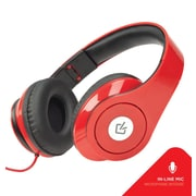 Overtime DJ1000 Wired Headphones With Mic - Red