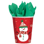 Amscan Very Merry Paper Cup, 9oz, 8/Pack, 8 Per Pack (588507)