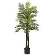Nearly Natural 5.5' Double Robellini Palm Tree UV Resistant - Indoor/Outdoor (5479)