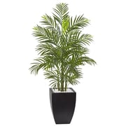 Nearly Natural 4.5' Areca Palm Tree with Black Wash Planter UV Resistant - Indoor/Outdoor (5955)