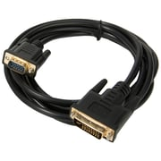 Sumaclife 10 Feet DVI 24-5 PIN DVI-Male to 15-pin VGA-Male Cable