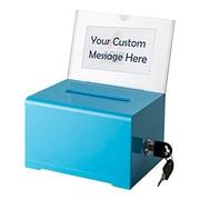 Adir Office Blue Acrylic Donation & Ballot Box with Lock (637-BLU)