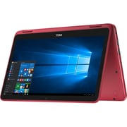 "Refurbished Dell 11-3168 11.6"" LCD Intel Pentium N3710 500GB 4GB Microsoft Windows 10 Home Laptop Red1472614052"
