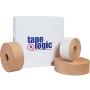 "Tape Logic® #7500 Reinforced Water Activated Tape, 3"" x 375', Kraft, 8/Case"