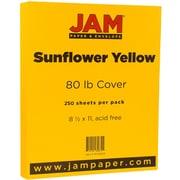 JAM Paper® Matte Cardstock, 8.5 x 11, 80lb Sunflower Yellow, 250/ream (16729203b)