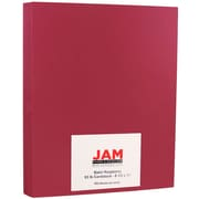 JAM Paper® Matte Cardstock, 8.5 x 11, 93lb Pink Raspberry, 250/ream (64426896b)