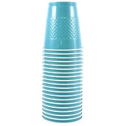 JAM Paper® Plastic Cups, 12 oz, Sea Blue, 200/box (2255520702b)