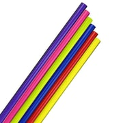JAM Paper® Solid Gift Wrapping Paper, 12.5 sq. ft. per roll, Assorted Bright Colors, 6/pack (2770assrt)