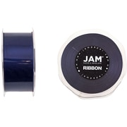 JAM Paper® Double Faced Satin Ribbon, 1.5 inch Wide x 25 yards, Navy Blue, Sold Individually (808SAnav25)