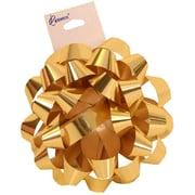 "JAM Paper® Gift Bows, 3.5"" Diameter, Gold, 12/pack (283613288)"