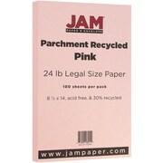 JAM Paper® Parchment Legal Paper, 8.5 x 14, 24lb Pink, 100/pack (17132139)