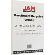 JAM Paper® Parchment Legal Paper, 8.5 x 14, 24lb White, 100/pack (17132141)