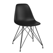 CorLiving Retro Dining Chair, Matte Black (DHL-101-C)