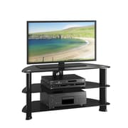 """CorLiving Laguna TV Stand for up to 50"""" TVs, Satin Black (TRL-401-T)"""