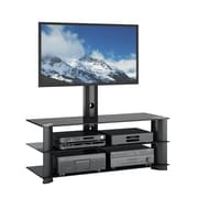 """CorLiving Laguna TV Stand with Mount for up to 60"""" TVs, Satin Black (TRL-601-T)"""