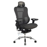 CorLiving WHL-505-C Workspace Deluxe Contoured Mesh Office Chair, Black