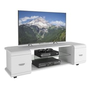 "CorLiving Panorama TV Stand for up to 65"" TVs, White Finish (TMM-113-B)"