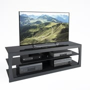 "CorLiving Santa Lana TV Stand for up to 70"" TVs, Black Matte (TSL-303-T)"