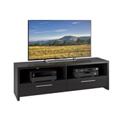 "CorLiving Fernbrook TV Stand for up to 70"" TVs, Black Faux Wood Grain Finish (TFB-308-B)"