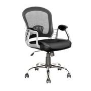 CorLiving LOF-208-O Workspace Leatherette and Mesh Office Chair, Black (LOF-208-O)