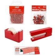 JAM Paper® Office Starter Desk Kit, Red, 5/pack (338756re)