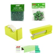 JAM Paper® Office Starter Desk Kit, Green, 5/pack (338756gr)
