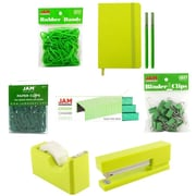 JAM Paper® Complete Desk Kit, Green, 8/pack (338756Cgr)