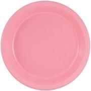 JAM Paper® Round Plastic Plates, Medium, 9 inch, Baby Pink, 200/box (9255320671b)