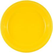 JAM Paper® Round Plastic Plates, Small, 7 inch, Yellow, 200/box (255321940b)