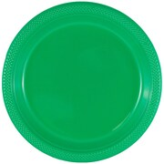 JAM Paper® Round Plastic Plates, Medium, 9 inch, Green, 200/box (255328197b)