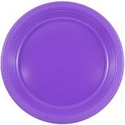 JAM Paper® Round Plastic Plates, Small, 7 inch, Purple, 200/box (7255320688b)