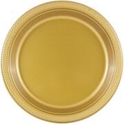 JAM Paper® Round Plastic Plates, Medium, 9 inch, Gold, 200/box (255325365b)