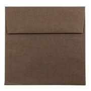 JAM Paper® 5.5 x 5.5 Square Envelopes, Chocolate Brown, 1000/carton (22314939b)