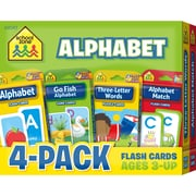 Alphabet Flash Card 4 Pk