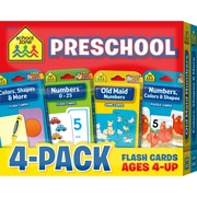 School Zone Preschool Flash Card 4Pack (SZP04044)