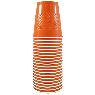 JAM Paper Plastic Cups, 12 oz, Orange, 200/box (2255520706b) 2633635
