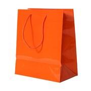 JAM Paper® Glossy Gift Bags, Medium, 8 x 4 x 10, Orange,6/pack (672GLora)