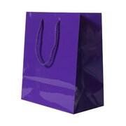 JAM Paper® Glossy Gift Bags, Medium, 8 x 4 x 10, Purple, 6/pack (672GLpua)