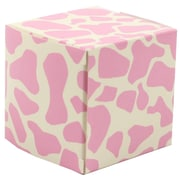 JAM Paper® Glossy Gift Boxes, Small, 2 x 2 x 2, Pink Giraffe, 10/pack (238327089)