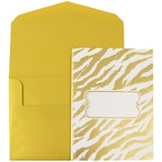 JAM Paper® Wedding Invitations, Large, 5.5 x 7.5, Gold Envelopes White Gold Zebra Stripe, 50/pack (5261045go)
