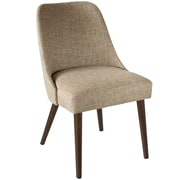 Skyline Furniture Rounded Back Accent Chair in Zuma Linen (84-6ZMLNN)